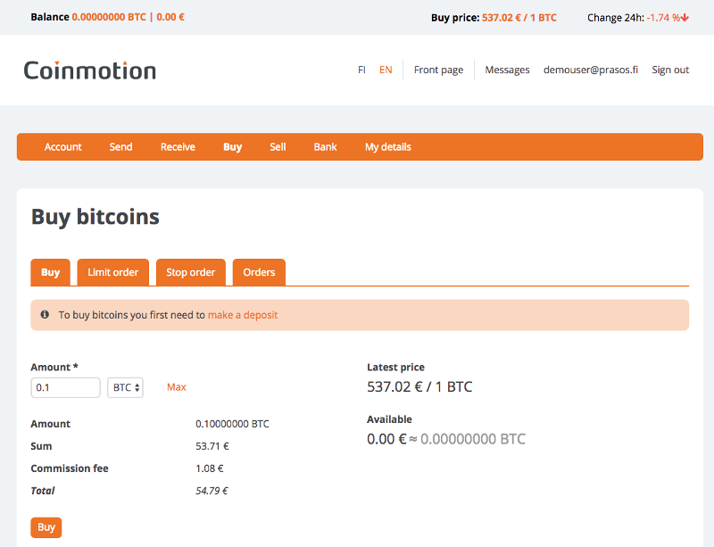 How to buy bitcoins using Coinmotion - Coinmotion | Safe and Secure