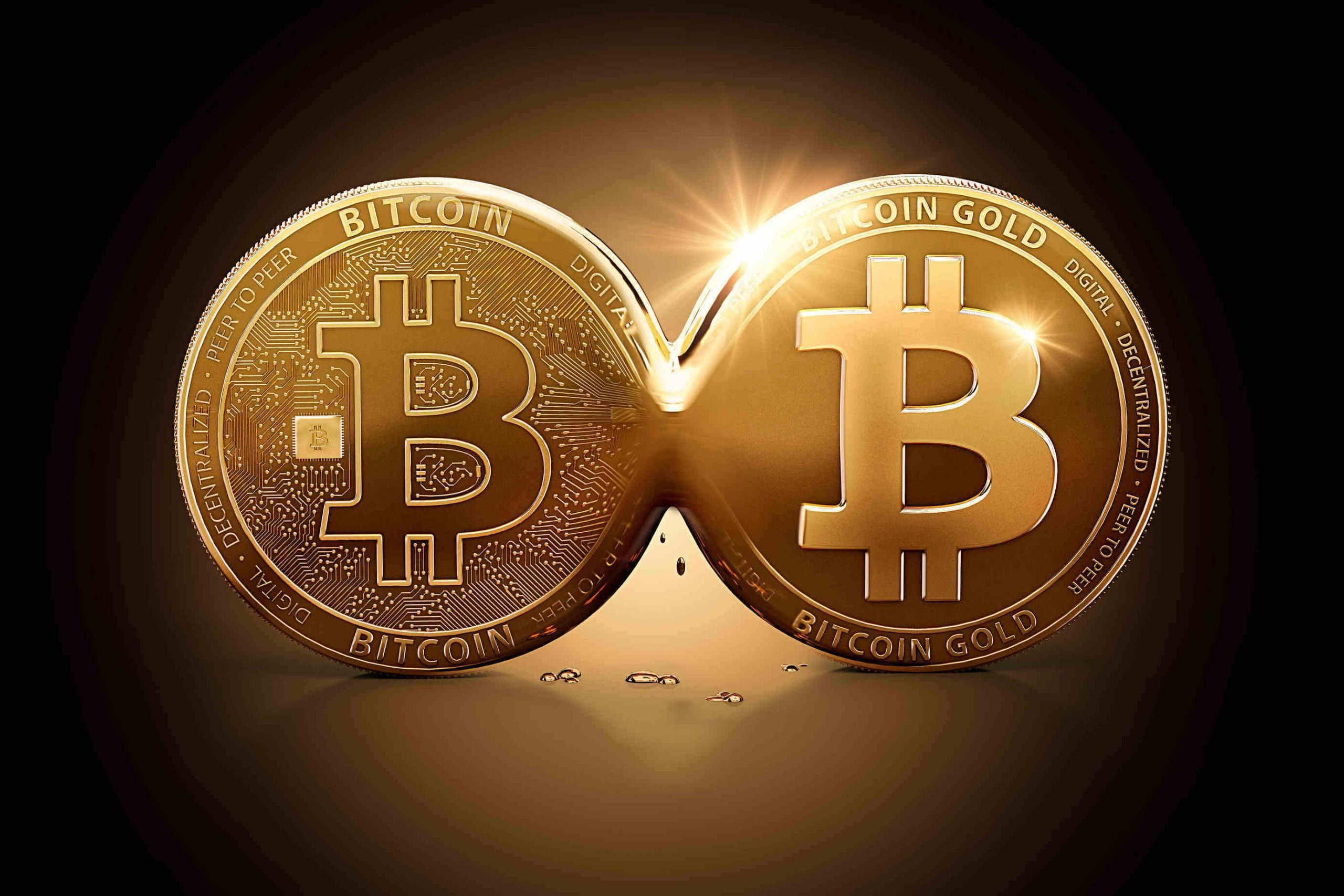 Bitcoin Gold emerging out of Bitcoin as a result of Hard Fork. Bitcoin splitting into two currencies.