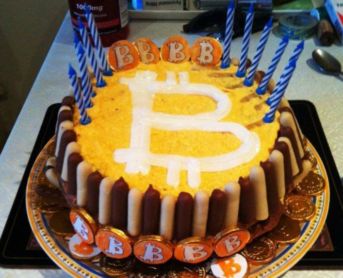 Bitcoin birthday cake