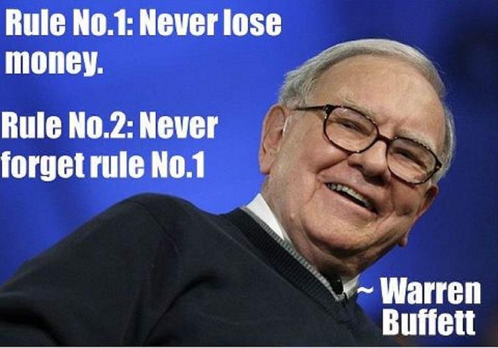should i listen to warren buffett about losing money