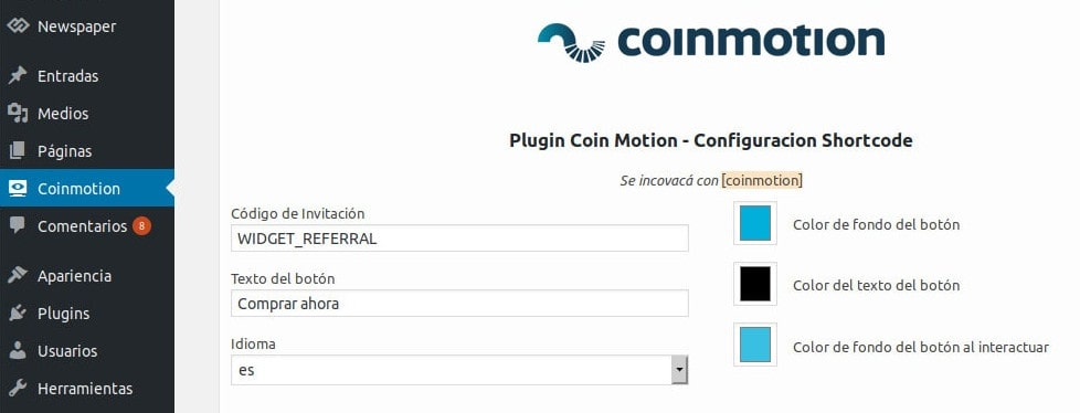 Wordpress configurar plugin bitcoin criptomonedas