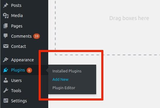 Les plugins ajoutent un nouveau plugin Coinmotion WordPress