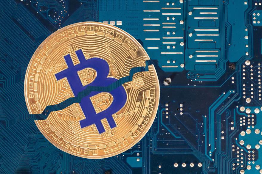 Bitcoin réduit de moitié