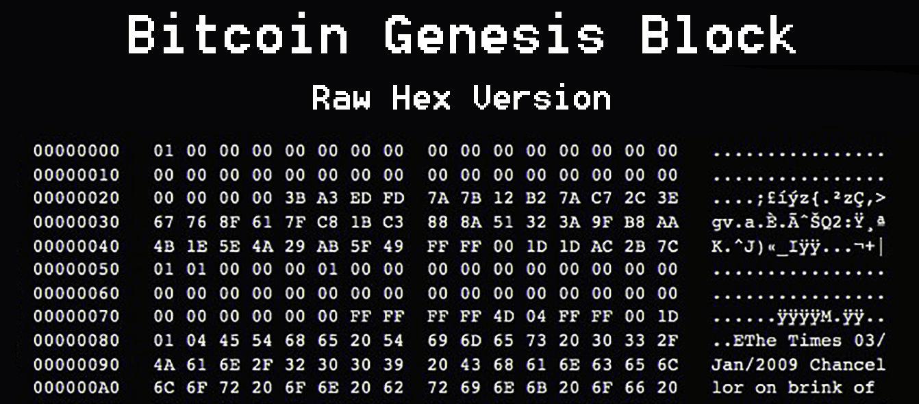 Genesis block message