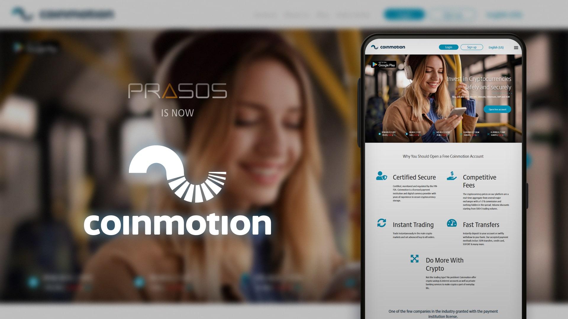 Prasos Oy changes name to Coinmotion Oy