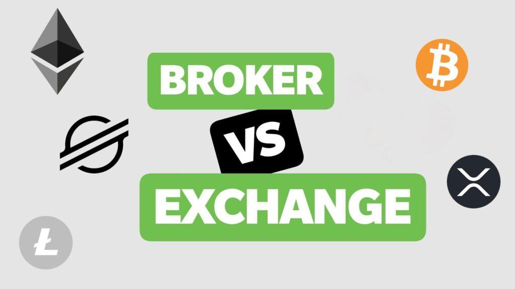 Diferencias entre bróker y exchange de criptomonedas