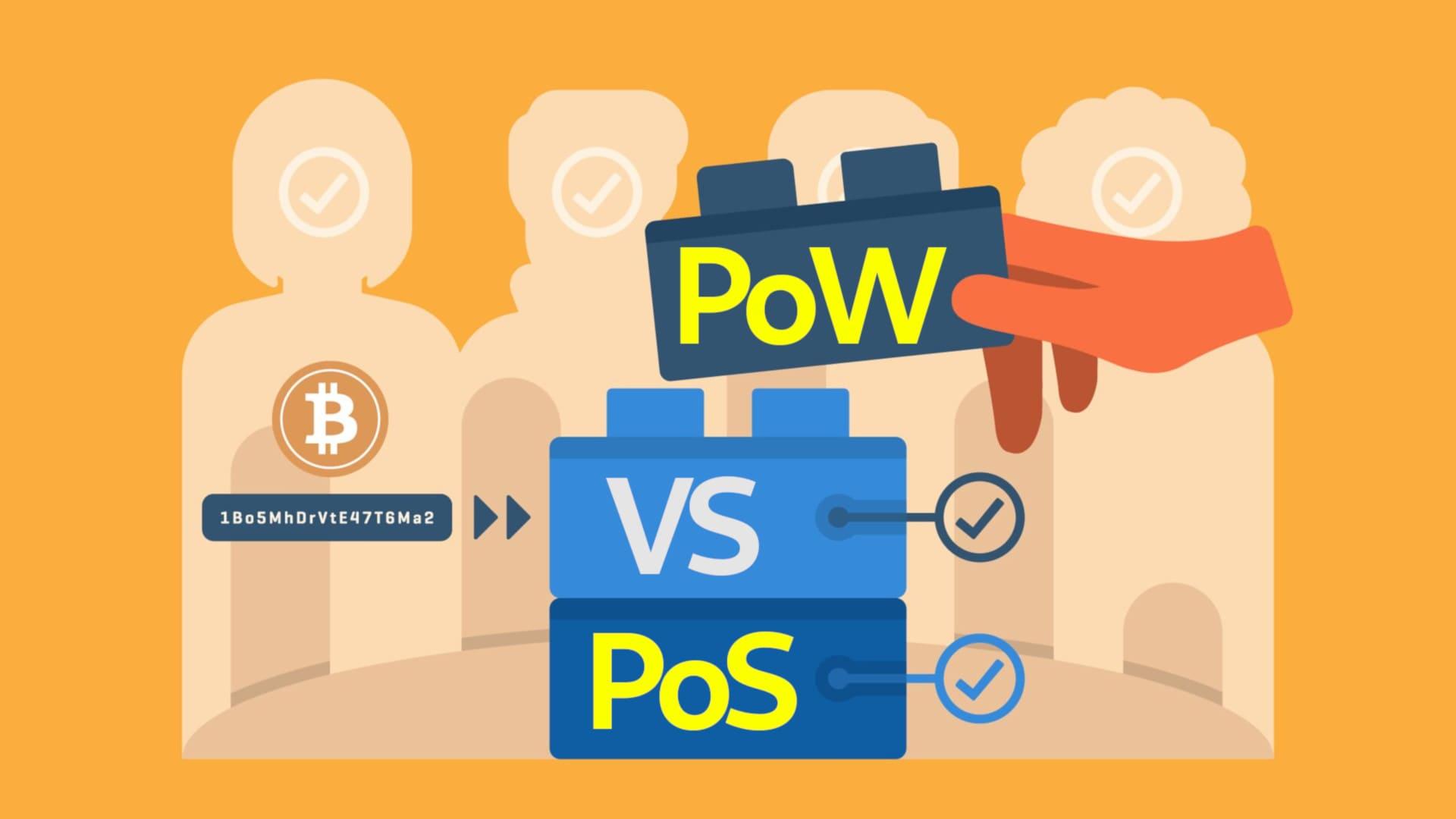 Diferencias entre PoW y PoS protocolo consenso blockchain