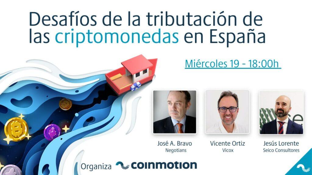 Coinmotion desafíos tributación Bitcoin criptomonedas España