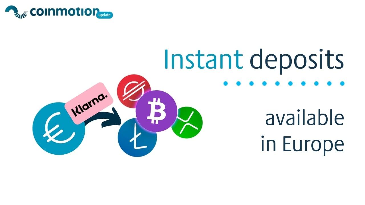 coinmotion-klarna-deposit-fiat-buy-crypto-instantly-in-europe